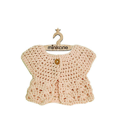 Paola Reina Baby Doll Crochet Cardigan – Natural