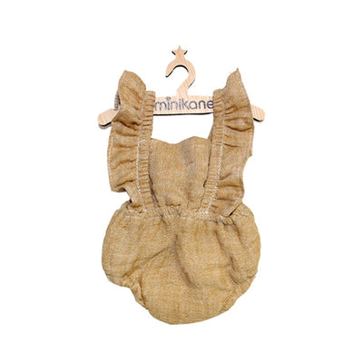 Minikane Paola Reina Baby Doll Romper LOU – Moutarde Chiné