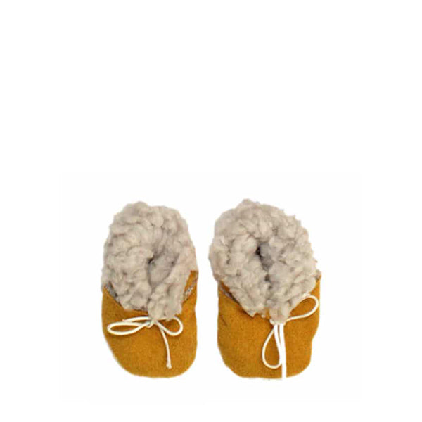 Minikane Paola Reina CAPSULE COLLECTION Baby Doll Boots – Mustard