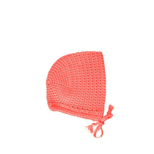Paola Reina Baby Doll Crochet Round Hat – Coral