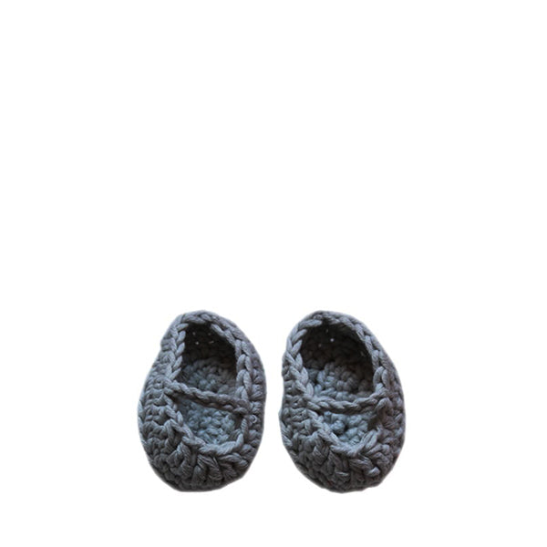 Minikane Paola Reina Baby Doll Crochet Shoes – Gris Chiné