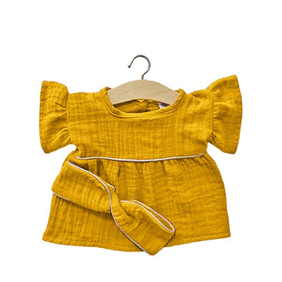 Minikane Paola Reina Baby Doll Dress DAISY with Headband – Mustard