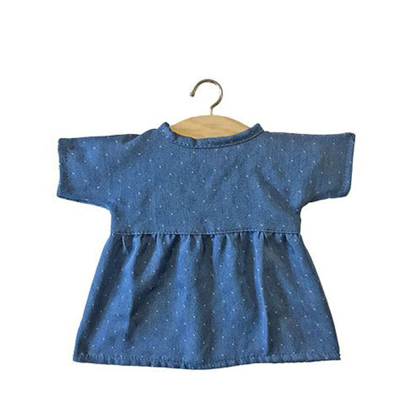 Minikane Paola Reina Baby Doll Dress FAUSTINE – Polka Dot Denim