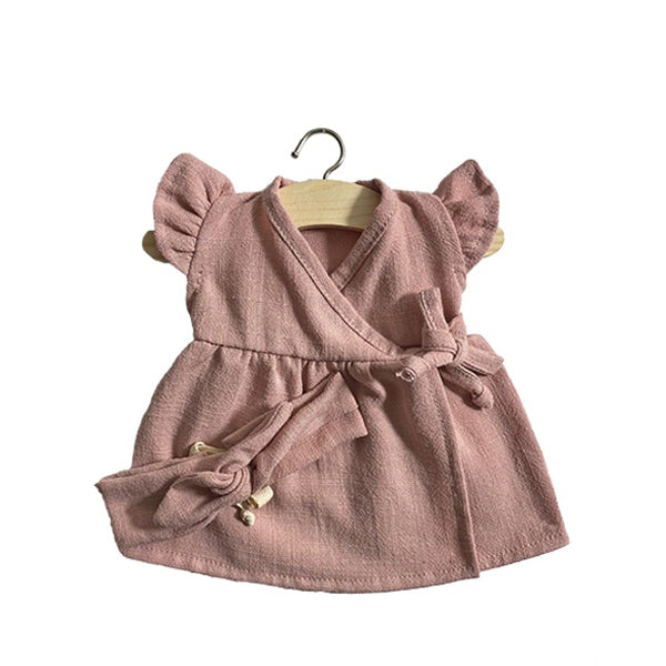Minikane Paola Reina Baby Doll Dress IRIS with Head Band - Vieux Rose