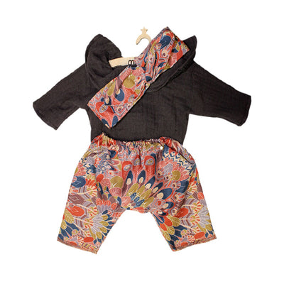 Minikane Paola Reina Baby Doll Ensemble with Head Band – Liberty® Chocolate