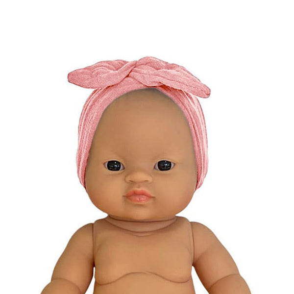 Minikane Paola Reina Baby Doll Head Band – Rose Tendre
