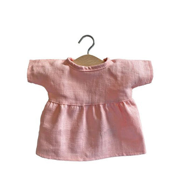 Minikane Paola Reina Baby Doll Dress FAUSTINE – Linen - Rose Tendre