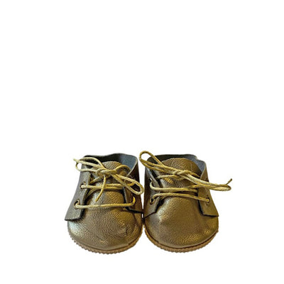 Minikane Paola Reina Baby Doll Lace-Up Shoes – Gold