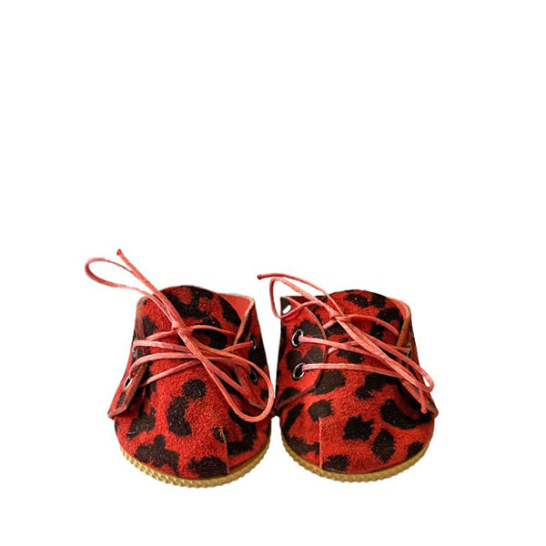 Minikane Paola Reina Baby Doll Lace-Up Shoes – Leopard Ruby