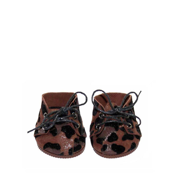 Minikane Paola Reina Baby Doll Lace-Up Shoes – Leopard