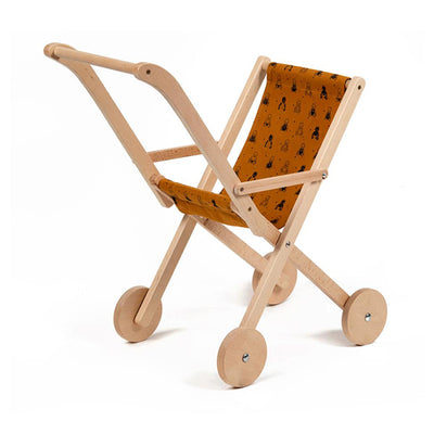 Minikane Vintage Wooden Doll Stroller - Curry