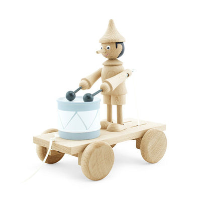 Miva Wooden Pull Along Toy - Drum Pinocchio