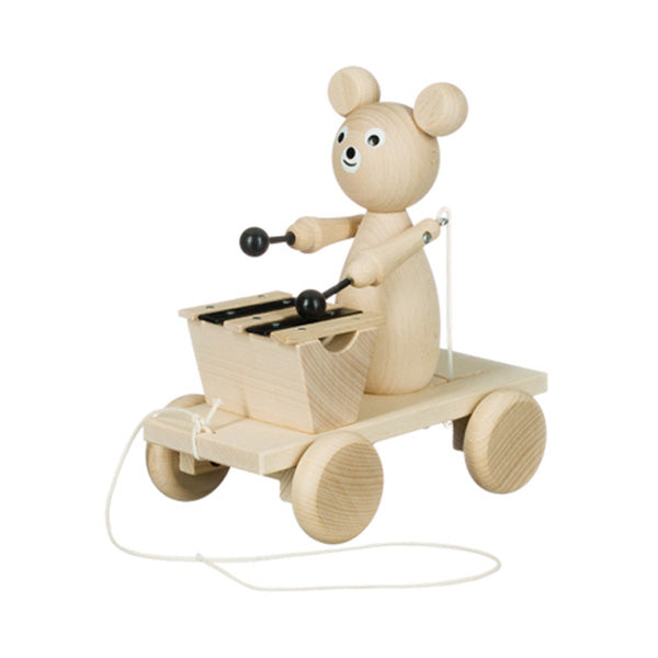 Miva Wooden Pull Along Toy - Xylophone Bear