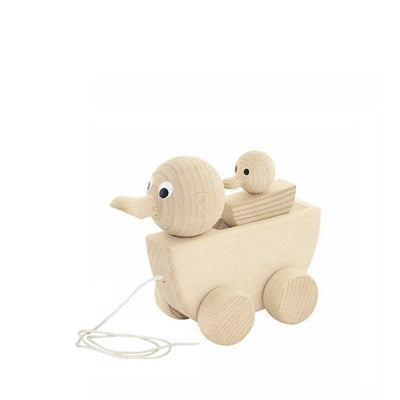 Miva Wooden Pull Along Toy - Mama Duck with Duckling