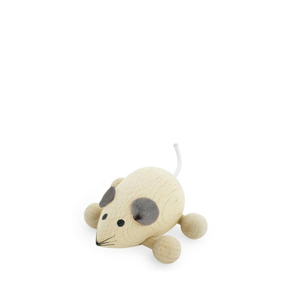 Miva Wooden Push Along Mouse - Natural