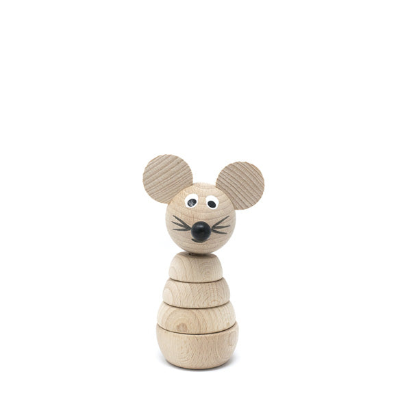 Miva Wooden Stacking Toy - Mouse