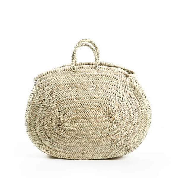 Handmade Palm Leaf Basket - Oval