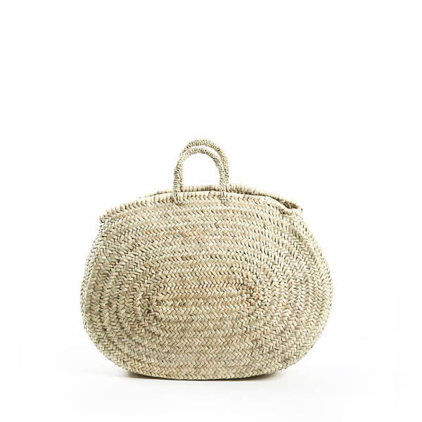 Handmade Palm Leaf Basket – Oval Small