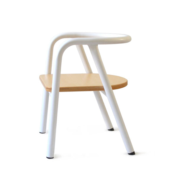 Mum and Dad Factory Metal School Chair - White