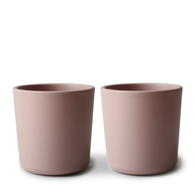 Mushie Dinnerware Cup, Set of 2 - Blush