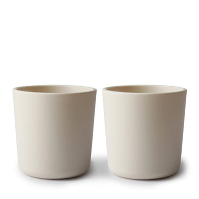 Mushie Dinnerware Cup, Set of 2 - Ivory