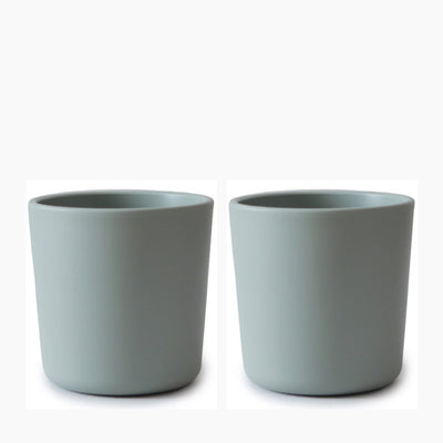 Mushie Dinnerware Cup, Set of 2 - Sage