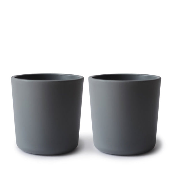 Mushie Dinnerware Cup, Set of 2 - Smoke