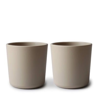 Mushie Dinnerware Cup, Set of 2 - Vanilla