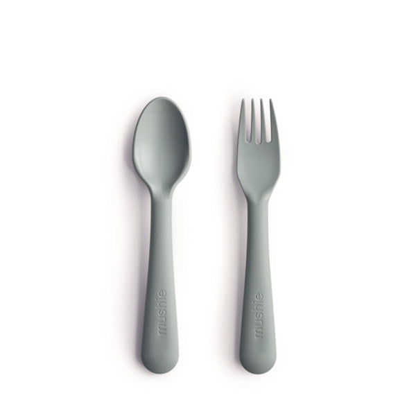 Mushie Fork and Spoon Set - Sage