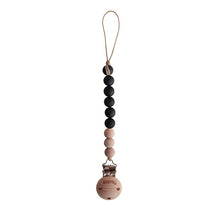 Mushie Pacifier Clip Cleo - Black