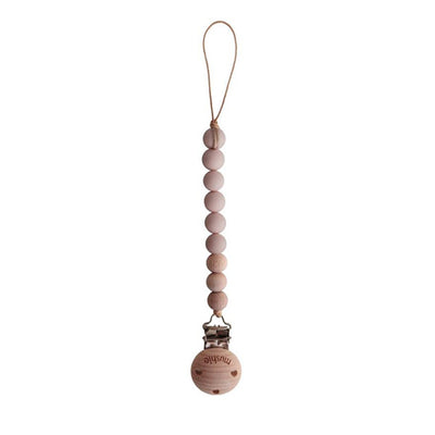 Mushie Pacifier Clip Cleo - Blush
