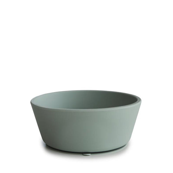 Mushie Silicone Suction Bowl - Cambridge Blue