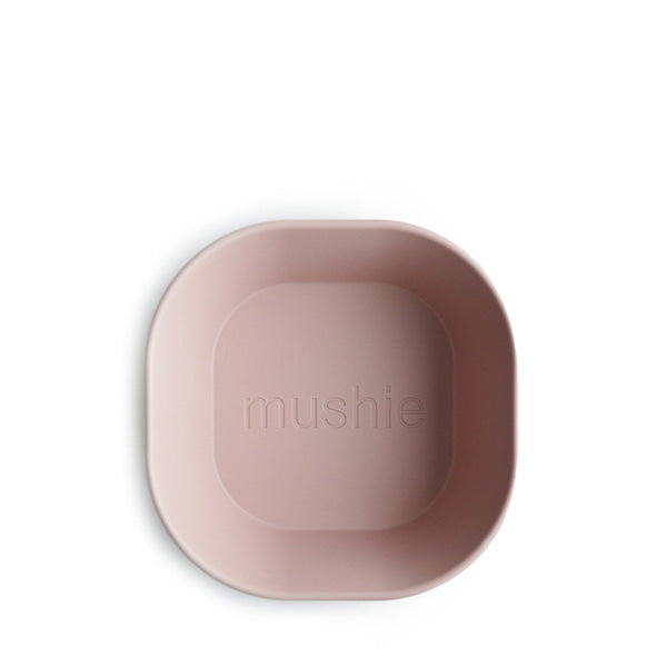 Mushie Square Dinnerware Bowl, Set of 2 - Blush