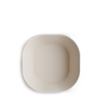 Mushie Square Dinnerware Bowl, Set of 2 - Ivory