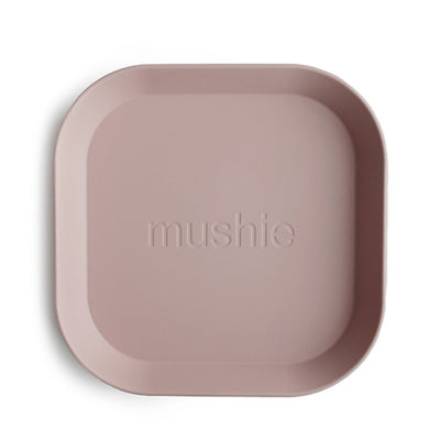Mushie Square Dinnerware Plates, Set of 2 - Blush