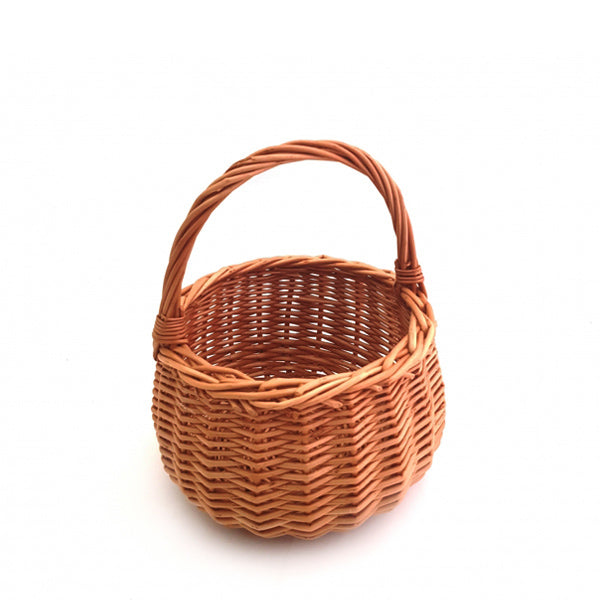 Natural Round Wicker Basket - Child
