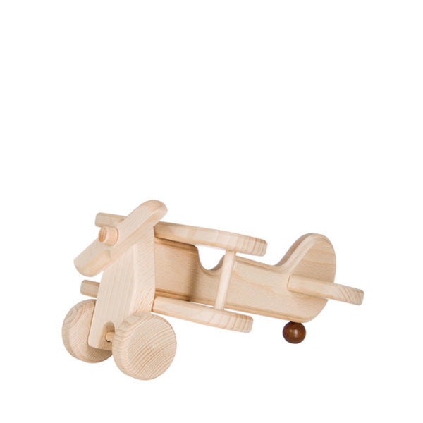 Wooden Double Deck Aircraft - Natural