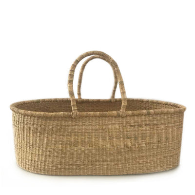 Natural Baby Moses Flat Basket – Vegan