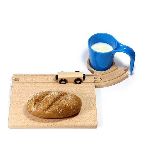 Neue Freunde Railroad Breakfast Set – Blue