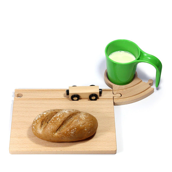 Neue Freunde Railroad Breakfast Set – Green
