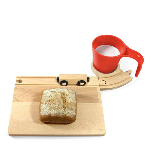 Neue Freunde Railroad Breakfast Set - Red