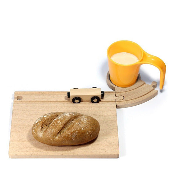 Neue Freunde Railroad Breakfast Set – Yellow