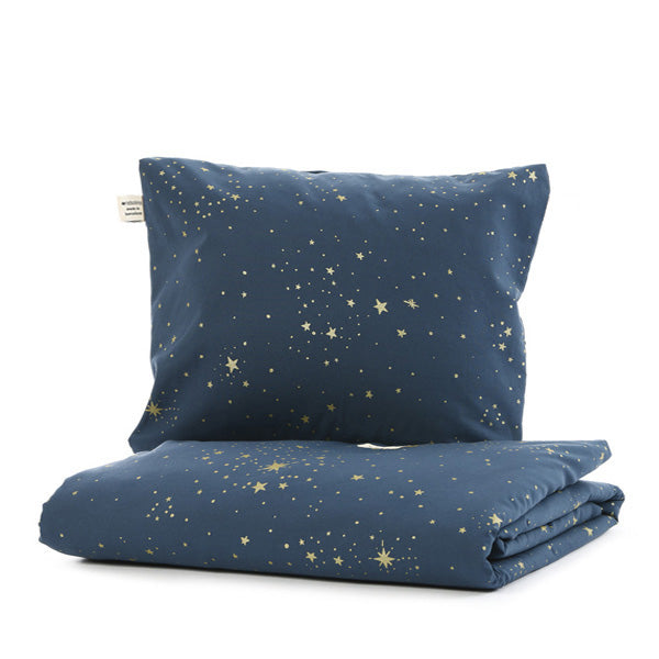Nobodinoz Himalaya Duvet - Gold Stella / Night Blue