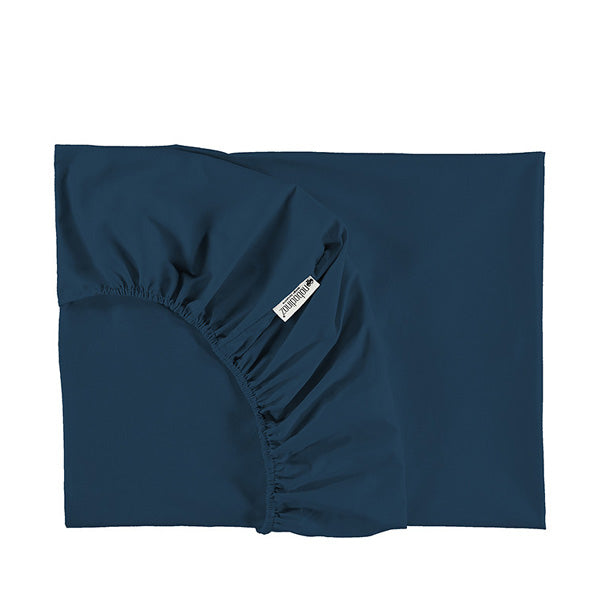 Nobodinoz Tibet Fitted Sheet - Night Blue