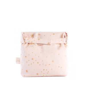 Nobodinoz Eco Lunch Bag - Gold Stella / Dream Pink