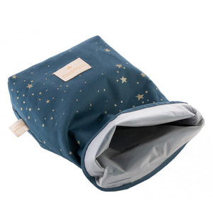 Nobodinoz Eco Lunch Bag - Gold Stella / Night Blue