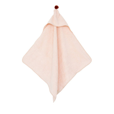 Nobodinoz So Cute Baby Bath Cape – Pink