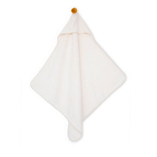 Nobodinoz So Cute Baby Bath Cape – White