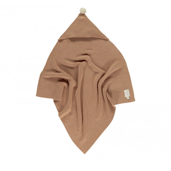 Nobodinoz So Natural Knitted Baby Cape - Biscuit