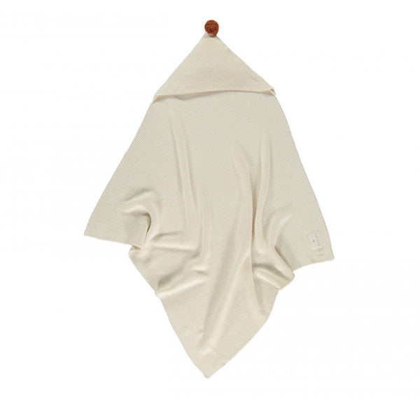 Nobodinoz So Natural Knitted Baby Cape - Natural
